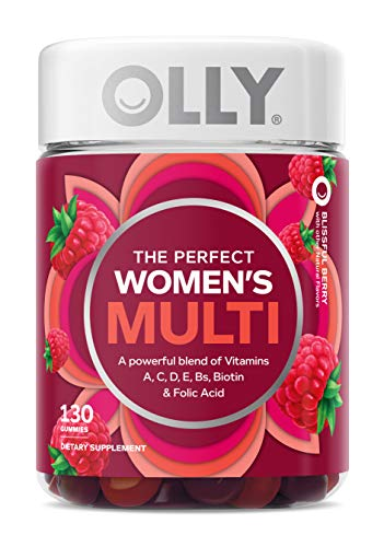 OLLY Women's Multivitamin Gummy, Vitamins A, D, C, E, Biotin, Folic Acid, Chewable Supplement, Berry Flavor, 65-Day Supply - 130 Count (Packaging May Vary)