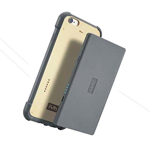 HFTEK iPhone 6/6s accuhoes oplaadbare beschermhoes Power Case externe batterij 3000mAh powerbank lader voor iPhone 6/6s (4,7 inch) - zilver