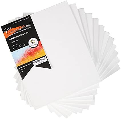 conda Artist Canvas Panels 9 x 12 inch 12 Pack Artist Quality Acid Free Canvas Board for Painting product image