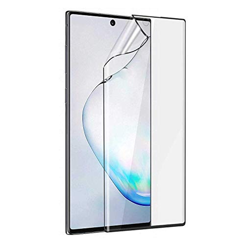 ISTAMBH® Compatible with Samsung Galaxy Note 10+ / Note 10 Pro/Note 10 Plus 5G Screen Protector Guard Full Coverage 2.5D Case Friendly Clear Film Glass Screen Protector for Galaxy Note10+ (Front Pet)