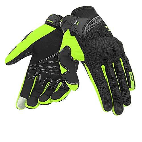 Guantes de Moto de Verano Transpirables Gant Moto de Malla para Hombre Guantes de Moto de Dedo Completo Guantes de Pantalla táctil Guantes de Montar en Moto-a79-XL