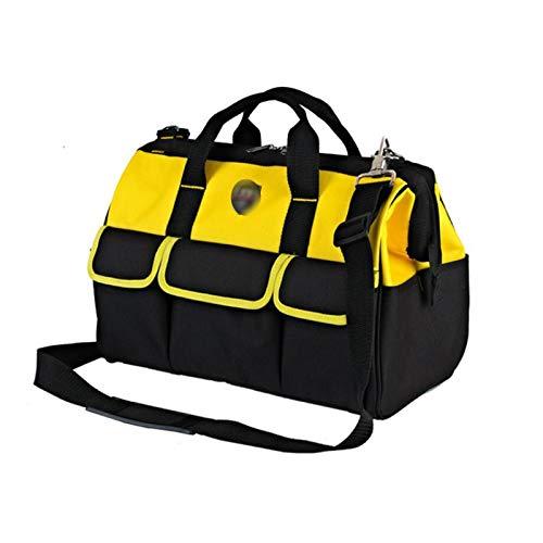 Qilo Bolsa Herramientas Kits de herramientas de gran capacidad a prueba de agua, bolsa de herramientas con la manija y la correa for el hombro, herramienta de múltiples funciones Organizador adecuados