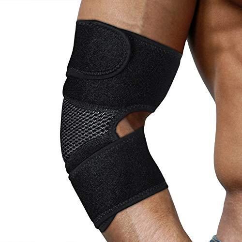 Sansoak AdjustableElbow Brace Compression Elastic Support Tendonitis,...