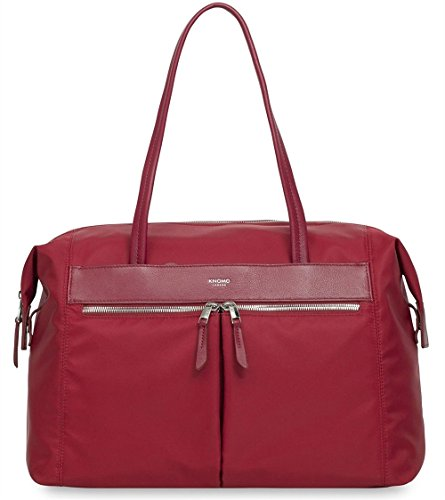 Knomo Knomo Curzon Shoulder Tote Bag Suitable for Up to 15 Inch Laptops Briefcase, 38 cm, Cherry