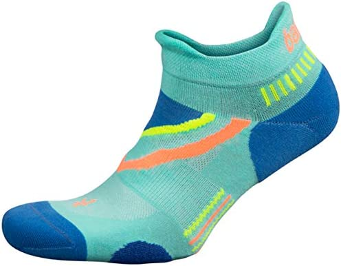 Balega UltraGlide Friction Free No Show Running Socks for Men and Women 1 Pair Light Aqua French product image