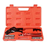 IWISS Angle Head F1807 PEX Pipe Crimping Tool for Copper Rings - IWS-1234W(1/2&3/4-inchCombo Crimper Kit)
