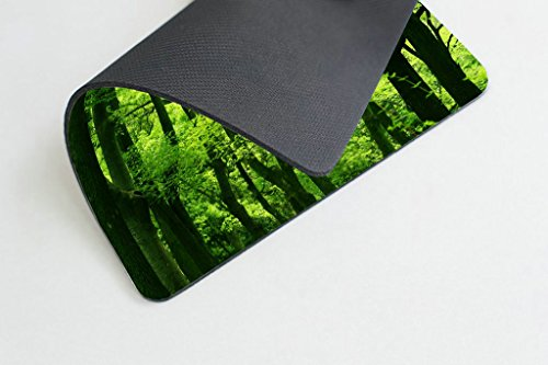 Smooffly Green Forest Mouse Pad,Tropical Rainforest Trees Mouse Pad,Beautiful Fresh Green Forest Personality Gaming Mouse Pad Photo #3