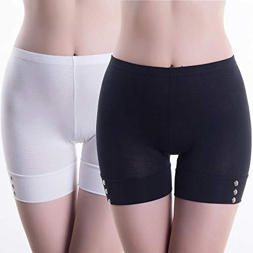 UnterhosenDamen Pantys Damen 2 Pcs Safety Boxershorts Unterwäsche Damen Anti-Leergut Legging Boxershorts Unterhose Höschen L M2