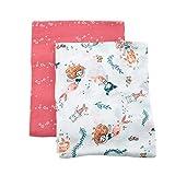 Bebe au Lait Oh So Soft Muslin Swaddle Blanket Set, Soft Muslin Design, Stylish Patterns - Mermaids and Bubbles