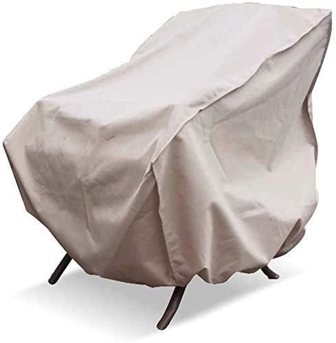 Cubiertas de Objeto Protección de Muebles de Jardín Protector de 83,8 x 88,9 x 91,4 cm Exterior Individual Sofá Protector Impermeable Resistente al Polvo Beige