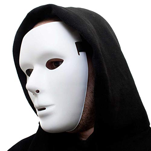 Phantommaske Weiße neutrale Maske maskuline anonyme Venezianische Männer Faschingsmaske Phantom der Oper