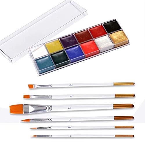 Eastern Corridor-EU 12 Couleur Palette de Maquillage Visage Corp Peinture Huile Noël Halloween Painting Art pour Enfant Adult