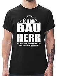 Typisch Männer - Ich Bin Bauherr - L - Schwarz - t-Shirt männer schwarz - L190 - Tshirt Herren und Männer T-Shirts
