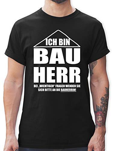 Typisch Männer - Ich Bin Bauherr - M - Schwarz - männer Tshirt Bauarbeiter - L190 - Tshirt Herren und Männer T-Shirts