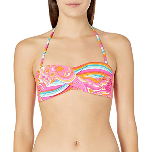 Trina Turk Women's Standard Twist Bandeau Bra Bikini Top, Multi//The Anniversary-Morning Sunrise, 0