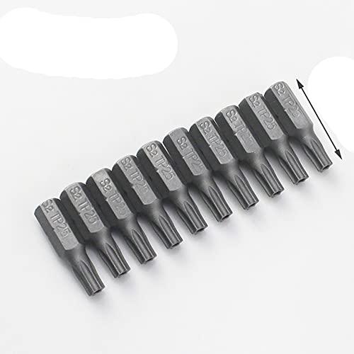 10 unids/lote puntas de destornillador de 25mm con agujero T10 T15 T20 T25 T27 T30 T40 1/4 pulgadas vástago hexagonal destornillador eléctrico Star Bit Set-TP25