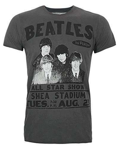 Amplified Beatles Shea Stadium T-Shirt pour Homme Charcoal