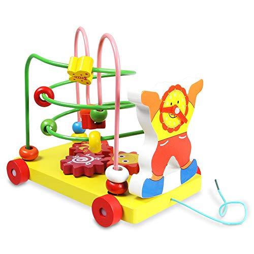 XMSIA Laberinto Multifunción Marco del Grano de la montaña Rusa Laberinto de Juguete Colorido del Regalo for los niños Niños Niños Niños Niñas Actividad de Madera Cube Toy