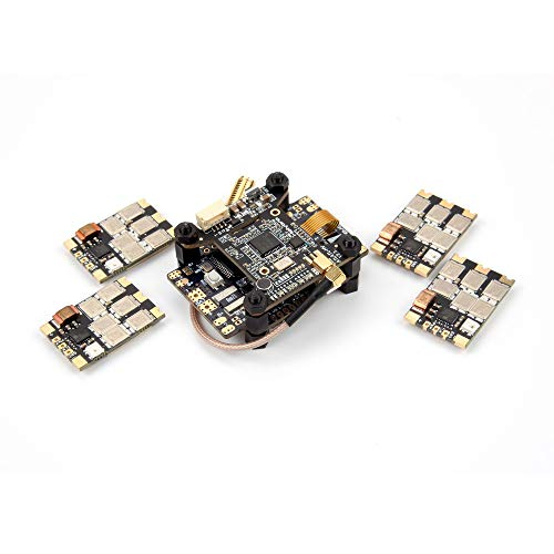 wchaoen Holybro Kakute F7 AIO OSD BEC Controlador de vuelo y Atlatl HV V2 FPV Transmisor y 4 PCS 65A BL_32 Tekko32 F3 Metal ESC Combo for RC Drone Accesorios para herramientas