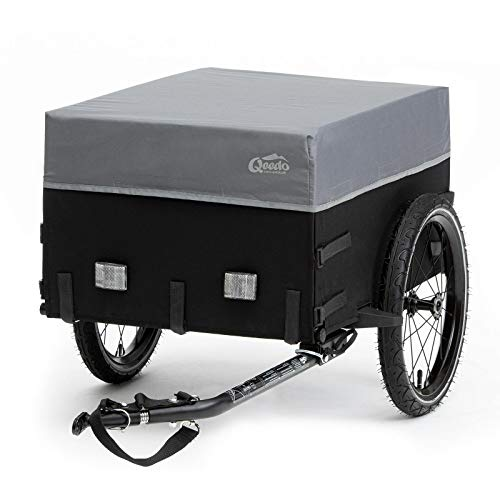 Qeedo Cargo Trailer Fahrradanhänger Lastenanhänger, Fahrrad Transportanhänger, klappbar