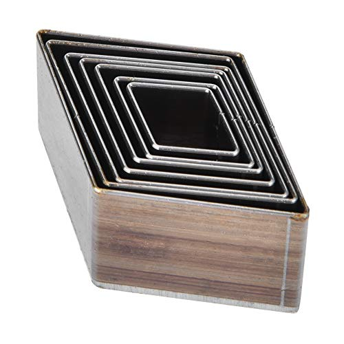 Moldes de corte de artesanía de cuero, 7 piezas 20-50 mm Molde de corte cuadrado de cuero Troquelado para cortador de cuero Artesanías de cuero