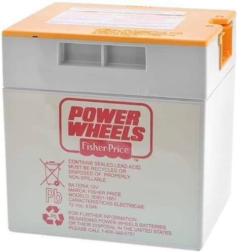 Fisher Price 00801-1661 Power Wheels Grey 12 Volt Battery Orange Top Genuine New