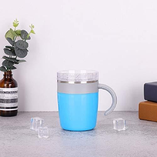 Sishangm Das Rühren Cup Kreative Automatische Edelstahl-Magnet Rotating Kaffeetasse, Kapazität: 320 Ml, Gesunde Und Umweltfreundliche Materialien, Ungiftig Und Harmlos pp (Color : Blue)