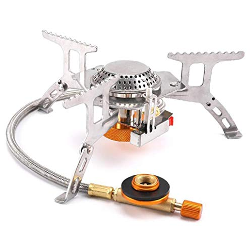 Sanfiyya Camping Gas Stove Portable Backpacking Fuel Burner Folding Electronic Windproof for Outdoor Accessories Gear
