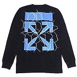 (オフホワイト)OFF-WHITE アロープリント 長袖Tシャツ【ブラック】OMAB001S20185002 1030『サイズ:L』 [並行輸入品]