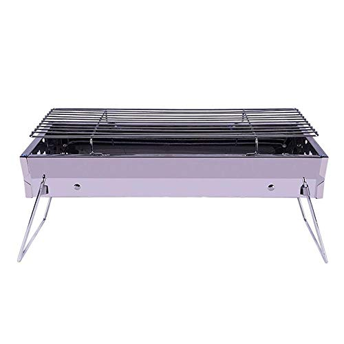Best Review Of XUNAN Portable Stainless Steel BBQ Grill Folding BBQ Grill Smokeless Outdoor Barbecue...