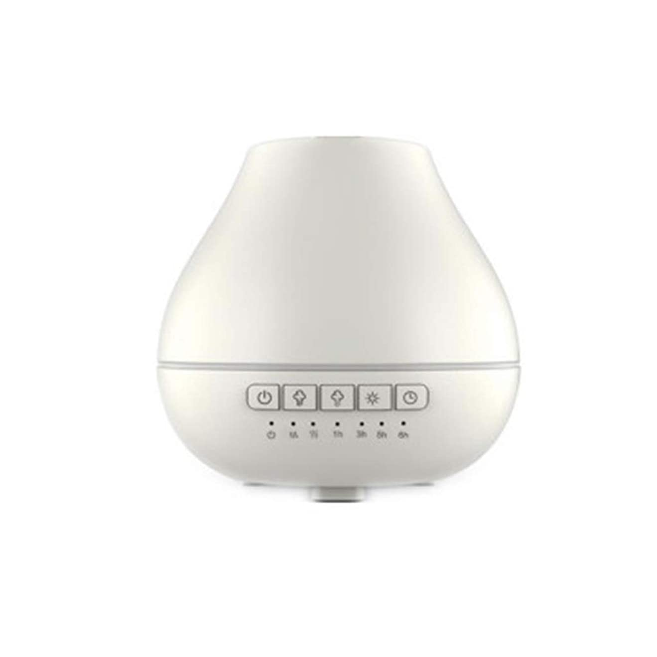 階層路地ペスト色LEDライトが付いている200ml超音波冷たい霧の加湿器は家のヨガのオフィスの鉱泉の寝室の拡散器を変えます (Color : White)