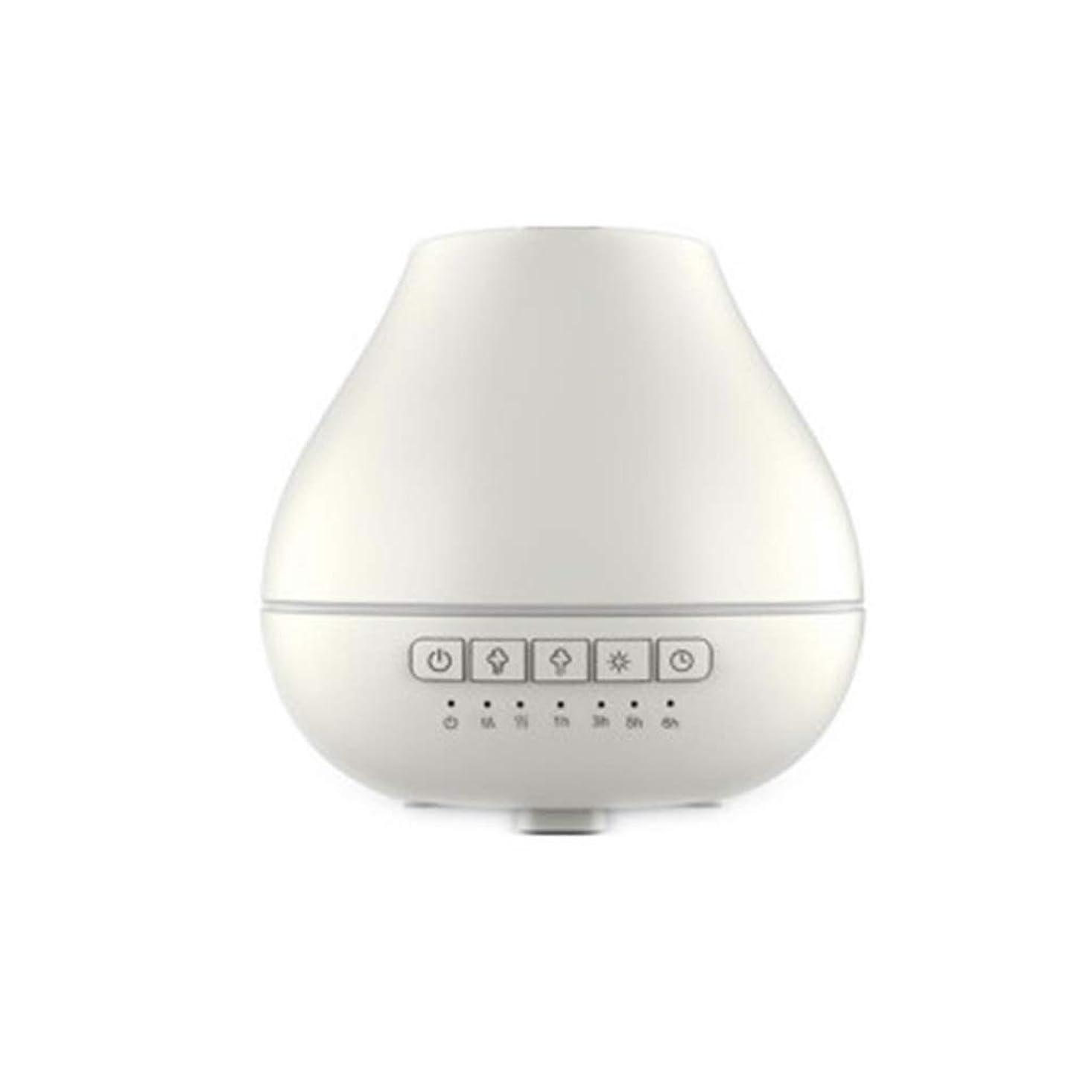遺伝的墓ヒューマニスティック色LEDライトが付いている200ml超音波冷たい霧の加湿器は家のヨガのオフィスの鉱泉の寝室の拡散器を変えます (Color : White)