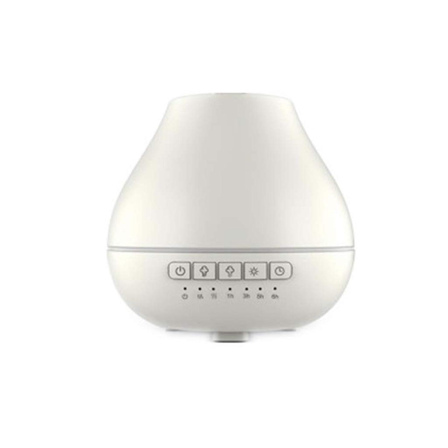 おっとベギンレンダー色LEDライトが付いている200ml超音波冷たい霧の加湿器は家のヨガのオフィスの鉱泉の寝室の拡散器を変えます (Color : White)