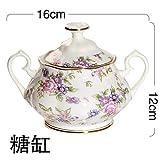 Ltong Color Enamel Coffee Pot Latas de azúcar Milk KettleBone China Drinkware Set de cerámica, Ver Tabla