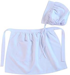 Making Believe Girls Puritan Colonial Basic Apron & Bonnet Set, Size: 4-8 Years
