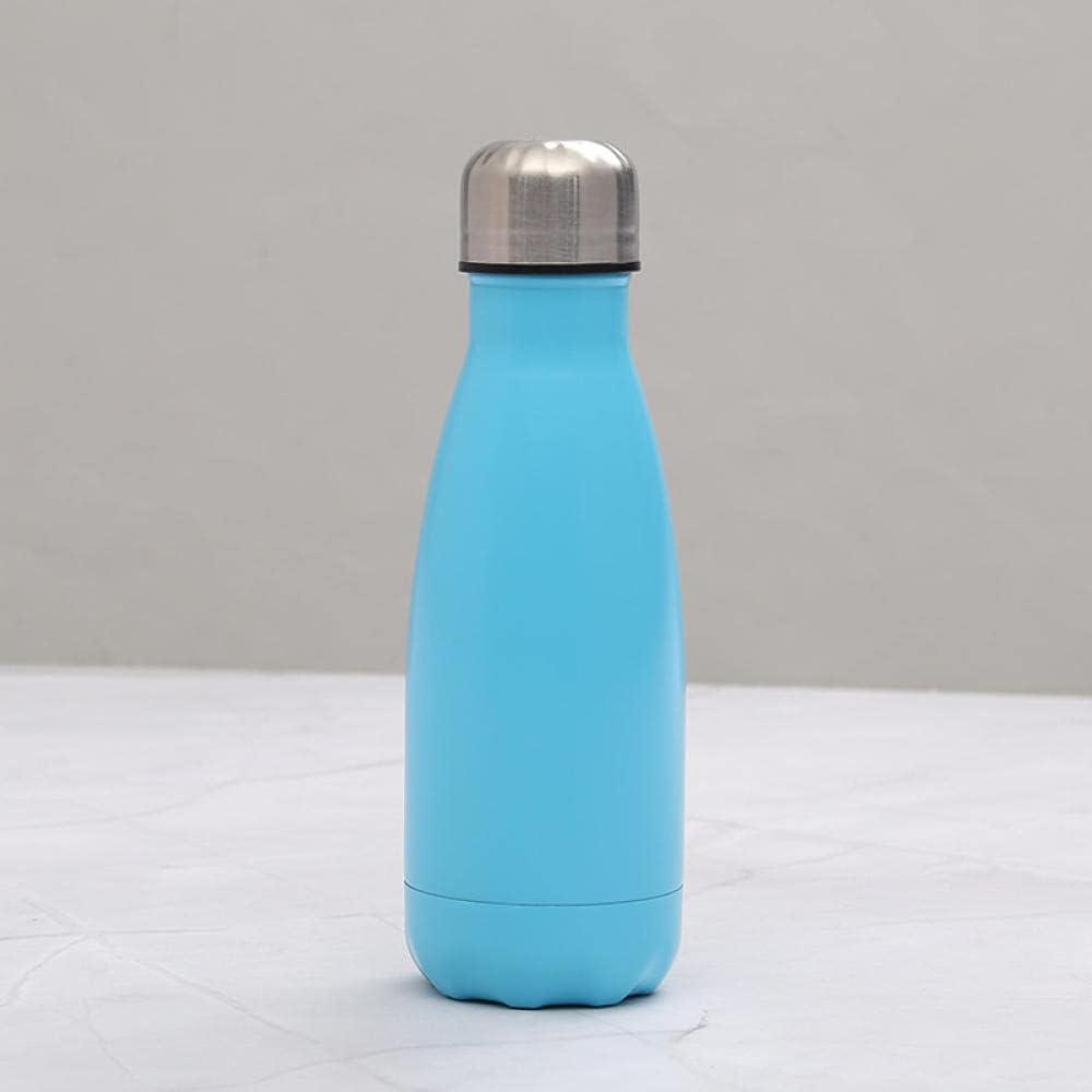 Copa embotelladora de acero inoxidable Copa de agua portátil pequeña taza de agua deportiva al aire libre Botella de agua-azul_301-400ml
