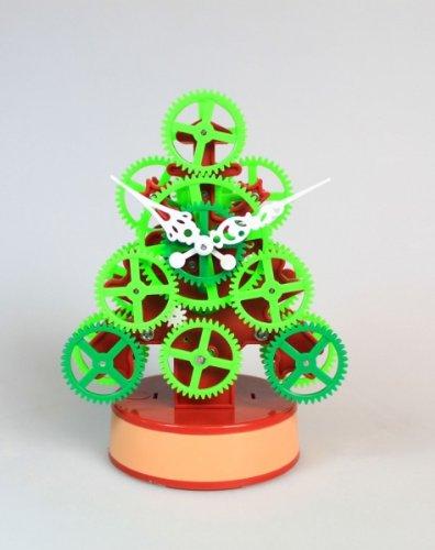 Geschenkbox Die außergewöhnliche Weihnachtsbaum Tischuhr/Standuhr aus vielen Zahnrädern