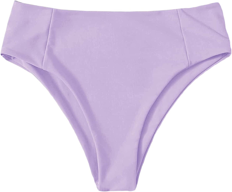 Verdusa Women's High Cut Swimsuit High Waisted Bikini Panty