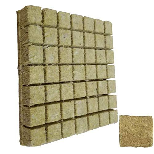Hotaden Rockwool Würfel, hydroponischen Anbau Soilless Anbau Compress Basis für Rockwool Starter Stecker 50pcs