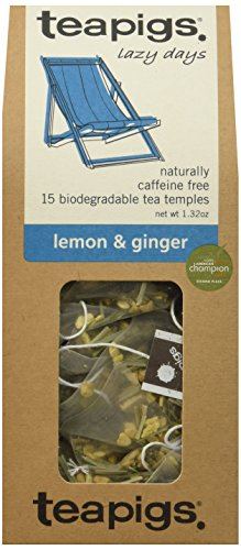 teapigs Lemon and Ginger Tea, 15 Count (Pack of 6)