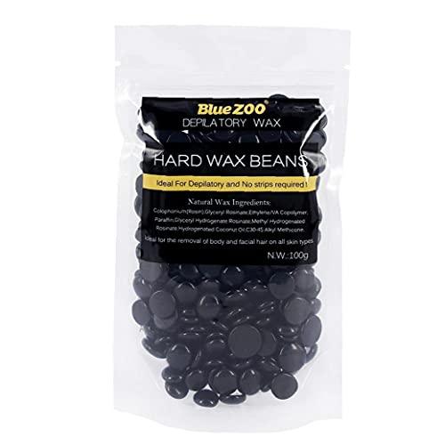 Épilation de zoo bleue Perles de cire épilation épilation de soja gouttes de soja Produits d'épilation Cire naturelle Noir 100g