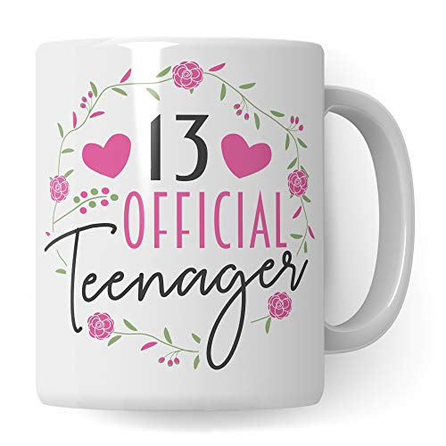 Teenager Tasse - 13. Geburtstag Mädchen Geschenk - Kaffeetasse Kaffeebecher Becher Geschenkidee 13 Jahre alt Teenagerin
