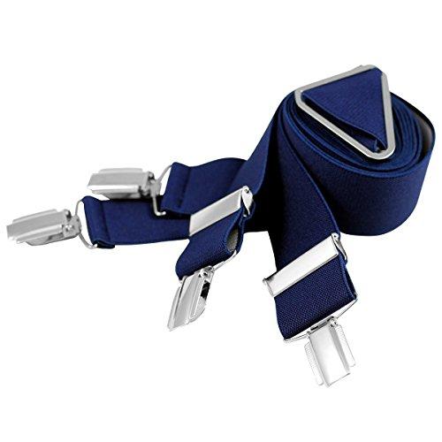Lindenmann Mens Braces/Suspenders/mens suspenders, X-shape, 30 mm stetch, XXL, navy blue, 9157-005, Größe/Size:110
