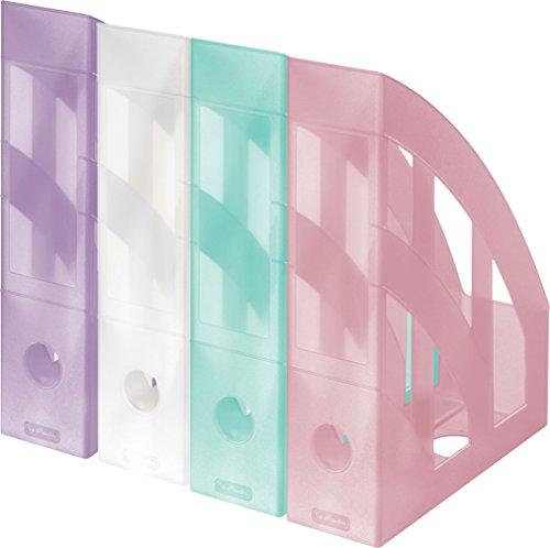 4 Herlitz Stehsammler / Plastik Stehordner / 4 verschiedene Farben