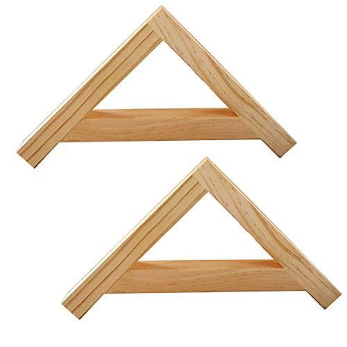 SUPPORT L-förmige Dreieck winkel regalhalterung, Wand Montierte schwere rechtwinklige Halterung aus massivem Holz, Mikrowellenregal-Bücherregal, geeignet für Wohnzimmer Schlafzimmer Badezimmer usw,2