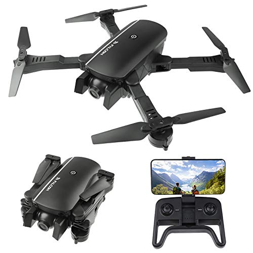FPV WiFi Drone with 4K Camera Wide Angle Foldable Drone RC Quadcopter Four-axis Aircraft with Optical Flow Positioning/Altitude Hold/Headless Mode/Follow Me/APP Control/Gesture Control/Gravity Sensor,