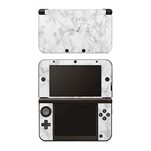 Skins4u Aufkleber Design Schutzfolie Vinyl Skin kompatibel mit Nintendo 3DS XL Marmor Weiss