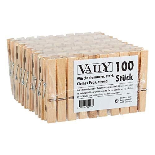 Mollette da bucato in legno 100 pezzi (2x 50PZ)