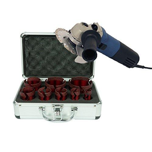 Dr. Diamond Premium tegelboorkronen set 8-delig incl. haakse slijper