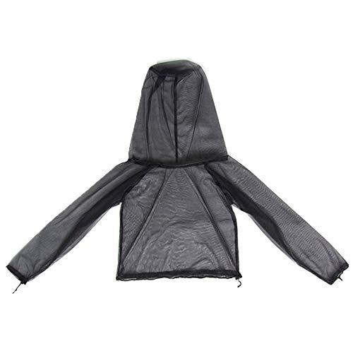 KOSSJAA Moskitoanzug mit Jacke und Hose Mückenschutz Männer Kleidung mit für Angeln Camping Outdoor Net Mesh Handschuhe (Mückenschutz Jacke, L/XL)